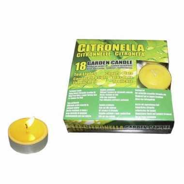 Set van 36x stuks anti muggen waxinelichtjes citronella