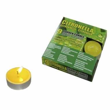 Set van 45x stuks anti muggen waxinelichtjes citronella