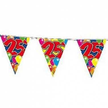 Slingers 25 jaar vlaggetjes 10 meter