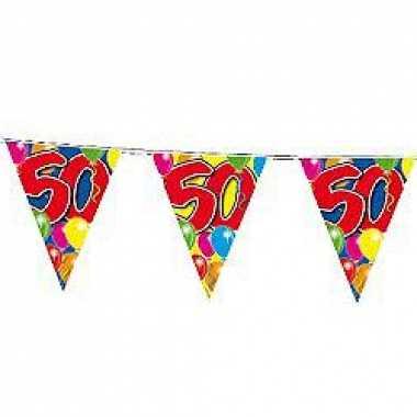 Slingers 50 jaar buiten vlaggetjes 10 meter