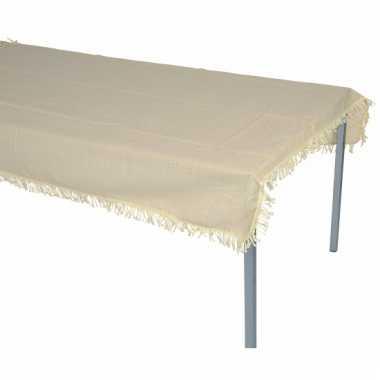 Tafelkleed voor buiten beige 180 cm