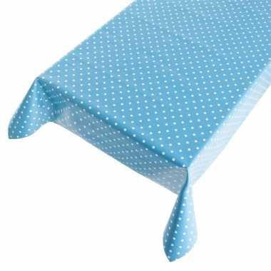 Tafelzeil polkadot blauw 140 x 240 cm