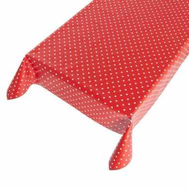 Tafelzeil polkadot rood 140 x 170 cm