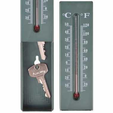 Thermometer sleutelkastje 16 cm