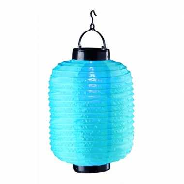 Tuin / balkon lampion op zonne energie blauw