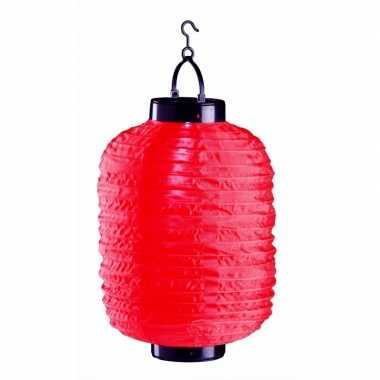 Tuin / balkon lampion op zonne energie rood