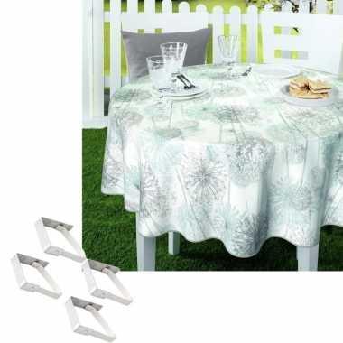 Tuin tafellaken voor buiten paardenbloem pluisjes print 160 cm rond p