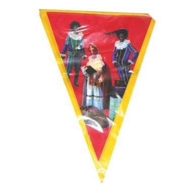 Vlaggen slinger sint en piet 5 meter