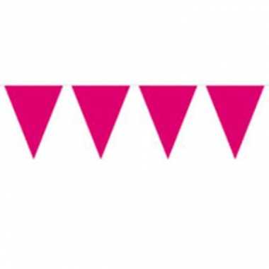 Vlaggenlijn effen donker roze 10 meter