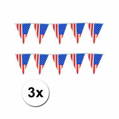 Vlaggenlijn usa kleuren 3x