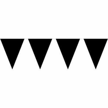 Vlaggenlijn zwart plastic 10 m