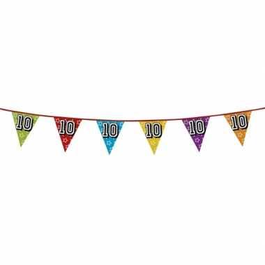Vlaggetjes 10 jaar feestje