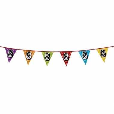 Vlaggetjes 8 jaar feestje