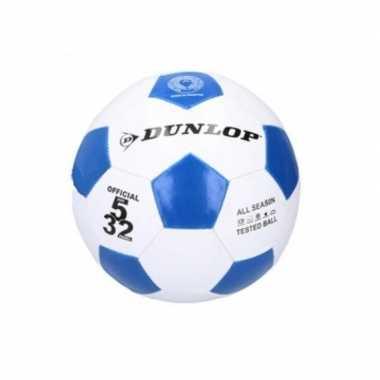 Voetbal blauw / wit voor kinderen maat 5