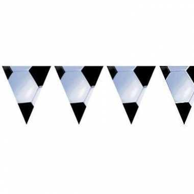 Voetbal thema vlaggenlijn