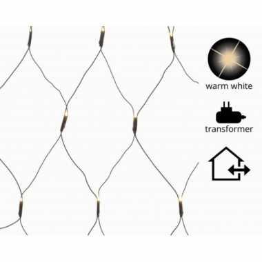 Warm witte netverlichting met 200 lampjes
