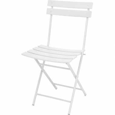 Witte balkonstoel staal 83 cm