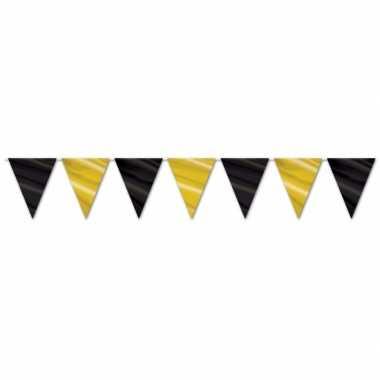 Zwart met gouden slingers 360 cm