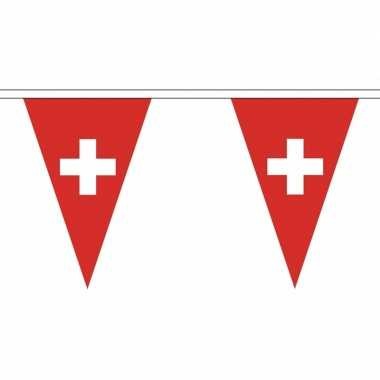 Zwitserland versiering vlaggenlijn 5 m