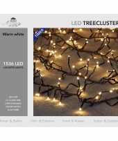 1x clusterverlichting met timer en dimmer 1536 leds warm wit 20 m