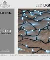 1x kerstverlichting 180 helder witte leds met dimmer en timer buiten