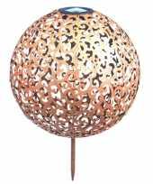1x koperen solarlampen bollen ballen op zonne energie 28 5 cm