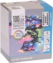 2x kerstverlichting afstandsbediening gekleurd buiten 100 lampjes