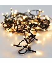 2x led kerstlichtjes met timer op batterij warm wit 7 m