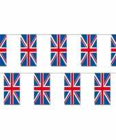 2x papieren vlaggenlijnen engeland