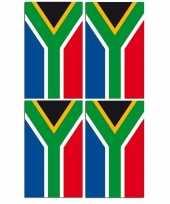 2x papieren vlaggenlijnen zuid afrika
