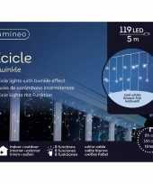 2x stuks ijspegel verlichting koel wit buiten 119 lampjes