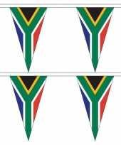 2x zuid afrikaanse landen versiering vlaggetjes 5 meter