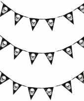 3x horror schedel vlaggenlijn slinger 360 cm halloween decoratie