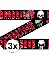 3x markeerlinten 15 meter horror zone