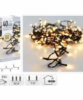 3x stuks kerstverlichting extra warm wit buiten 40 lampjes