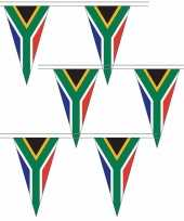 3x zuid afrikaanse landen versiering vlaggetjes 5 meter
