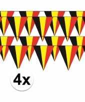 4x belgie vlaggenlijn slinger 5 meter