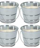 4x citronella kaars anti mug in emmertje