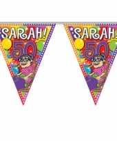 4x sarah 50 jaar vlaggenlijnen 10 meter
