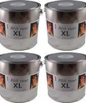 4x tuindecoratie tuinverlichting fakkel 16 5 x 15 cm 6 12 branduren