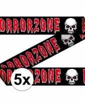 5x markeerlinten 15 meter horror zone