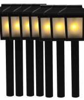 7x tuinlamp fakkel tuinverlichting met vlam effect 34 5 cm