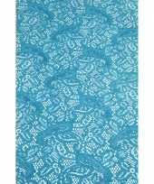 Antislip tafelloper 150 x 40 cm aqua blauw