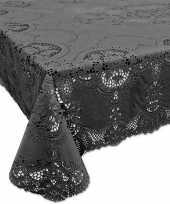 Antraciet grijs tuin tafellaken voor buiten 152 x 228 cm rechthoekig van kunststof