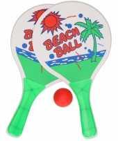 Beachball set groen wit buitenspeelgoed