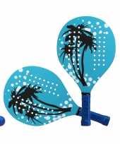 Blauwe beachball set met palmbomenprint buitenspeelgoed