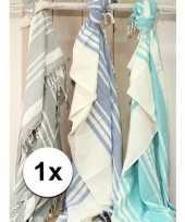 Blauwe hamam buitenkleed xxl