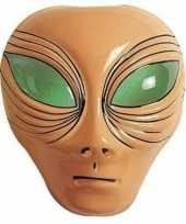 Buitenaards wezen masker bruin voor volwassenen