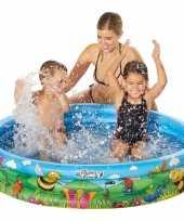 Buitenspeelgoed zwembaden blauw bloemen rond 122 x 23 cm voor jongens meisjes kinderen
