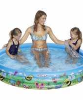 Buitenspeelgoed zwembaden blauw bloemen rond 178 x 30 cm voor jongens meisjes kinderen en dames heren volwassenen